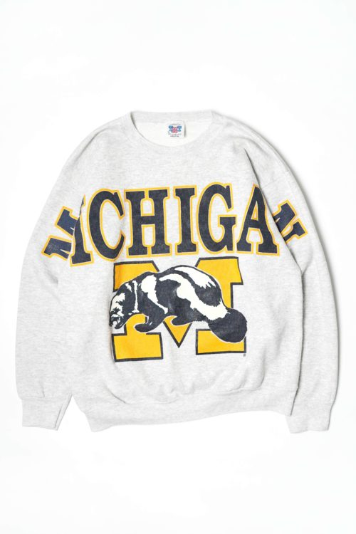 VINTAGE MICHIGAN OVER PRINTED SWEAT GRAY