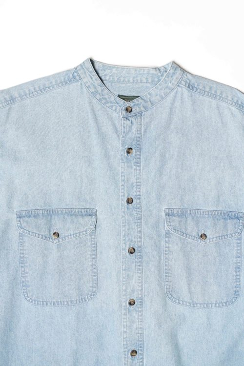 MAO COLLAR DENIM SHIRTS