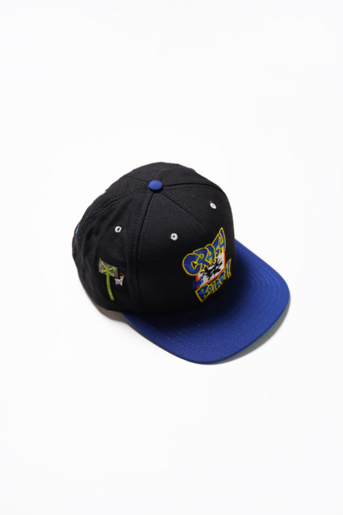 VINTAGE SNAP BACK  CAP BLUE / BLACK