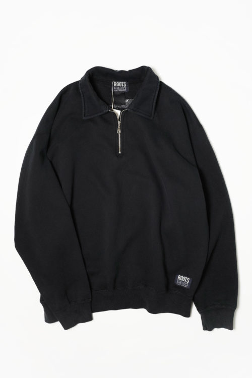 HALF ZIP SWEAT BLACK