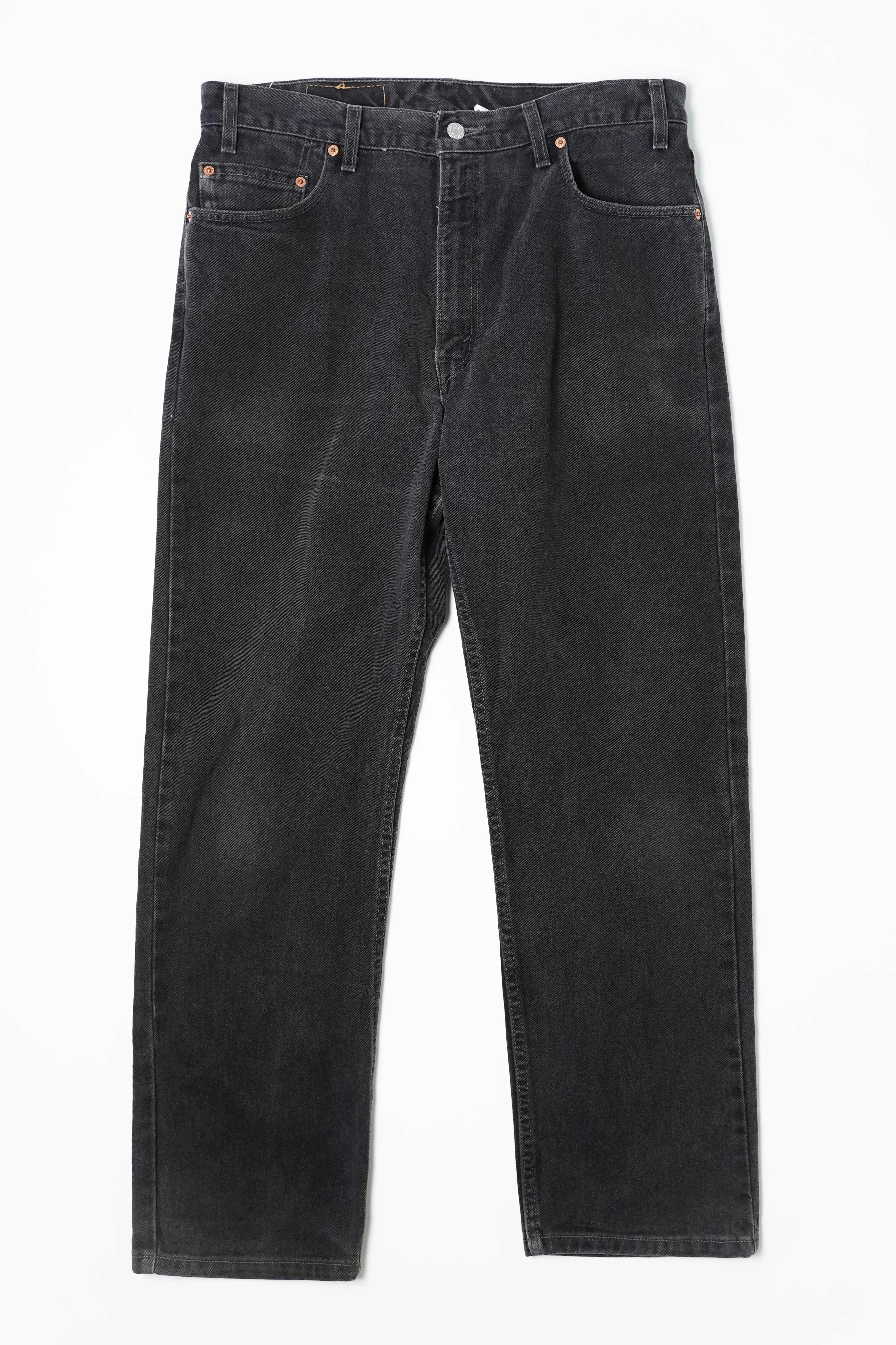LEVI'S 505 W36 L30 BLACK DENIM PANTS
