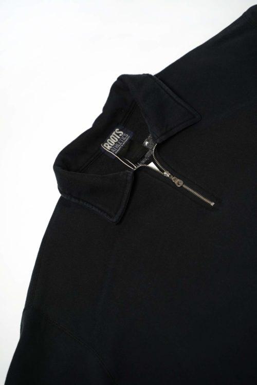 HALF ZIP SWEAT BLACK