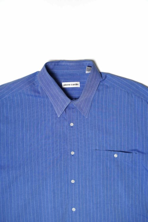 PIERRE CARDIN BLUE STRIPE DESIGN SHIRTS