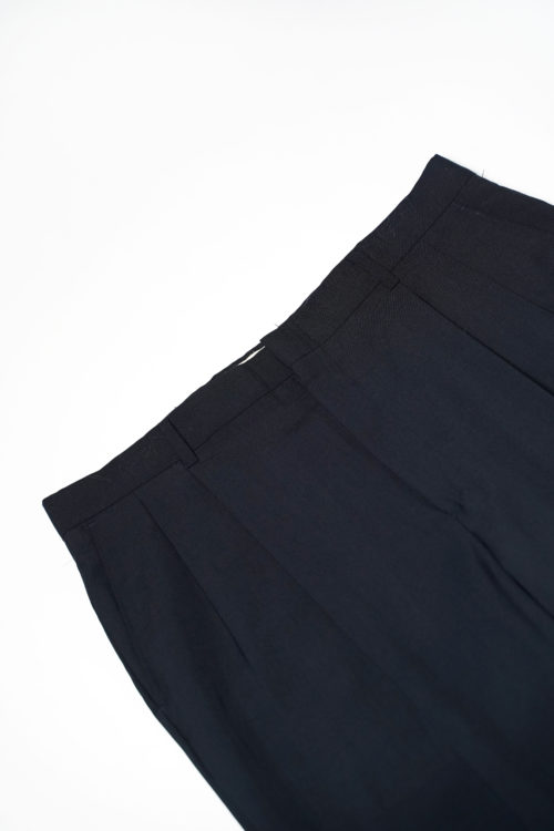 WORSTED WOOL REMAKE SLACKS PANTS NAVY