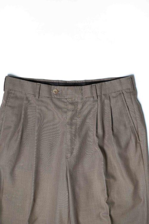 RAYON REMAKE SLACKS PANTS BROWN
