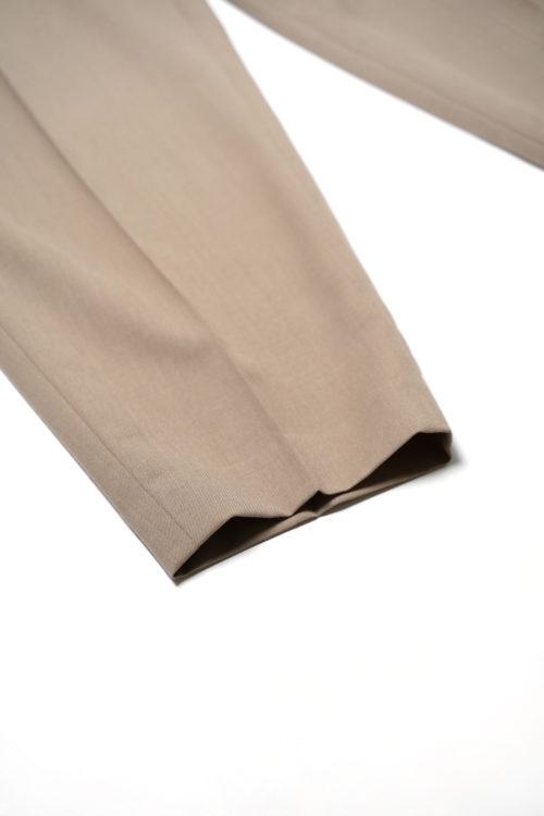 WORSTED WOOL REMAKE SLACKS PANTS BROWN