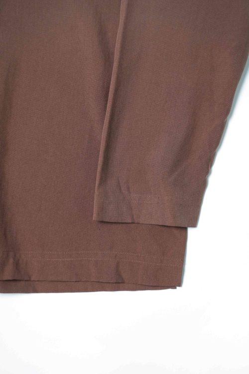 1POCKET BROWN SILK SHIRTS