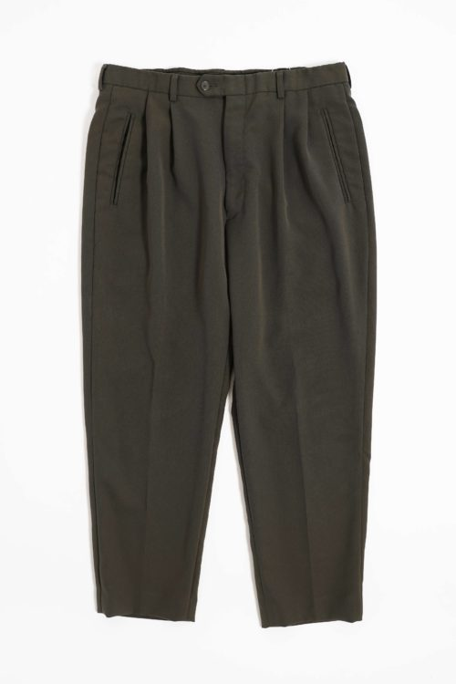MICRO POLYESTER FABRIC REMAKE SLACKS PANTS KHAKI COLOR