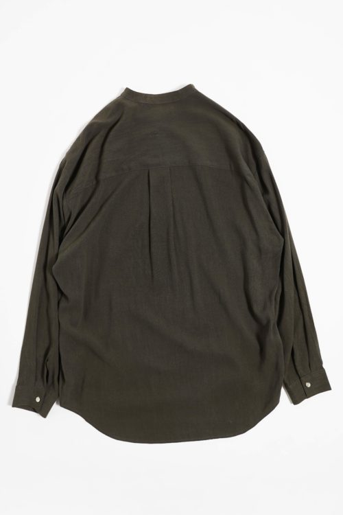MAO COLLAR RAYON SHIRTS KHAKI COLOR