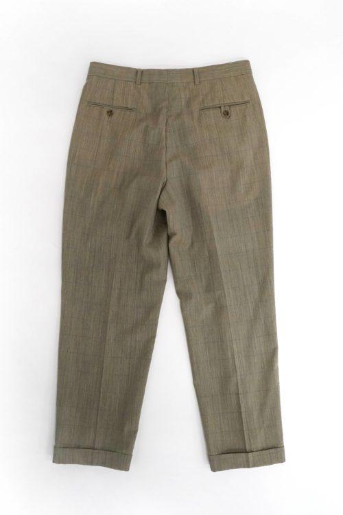 TOMMY WINDOWPANE PATTERN SLACKS PANTS