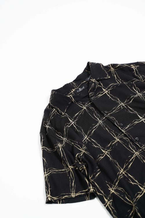 RAYON DESIGN BLACK PATTERNS S/S SHIRTS