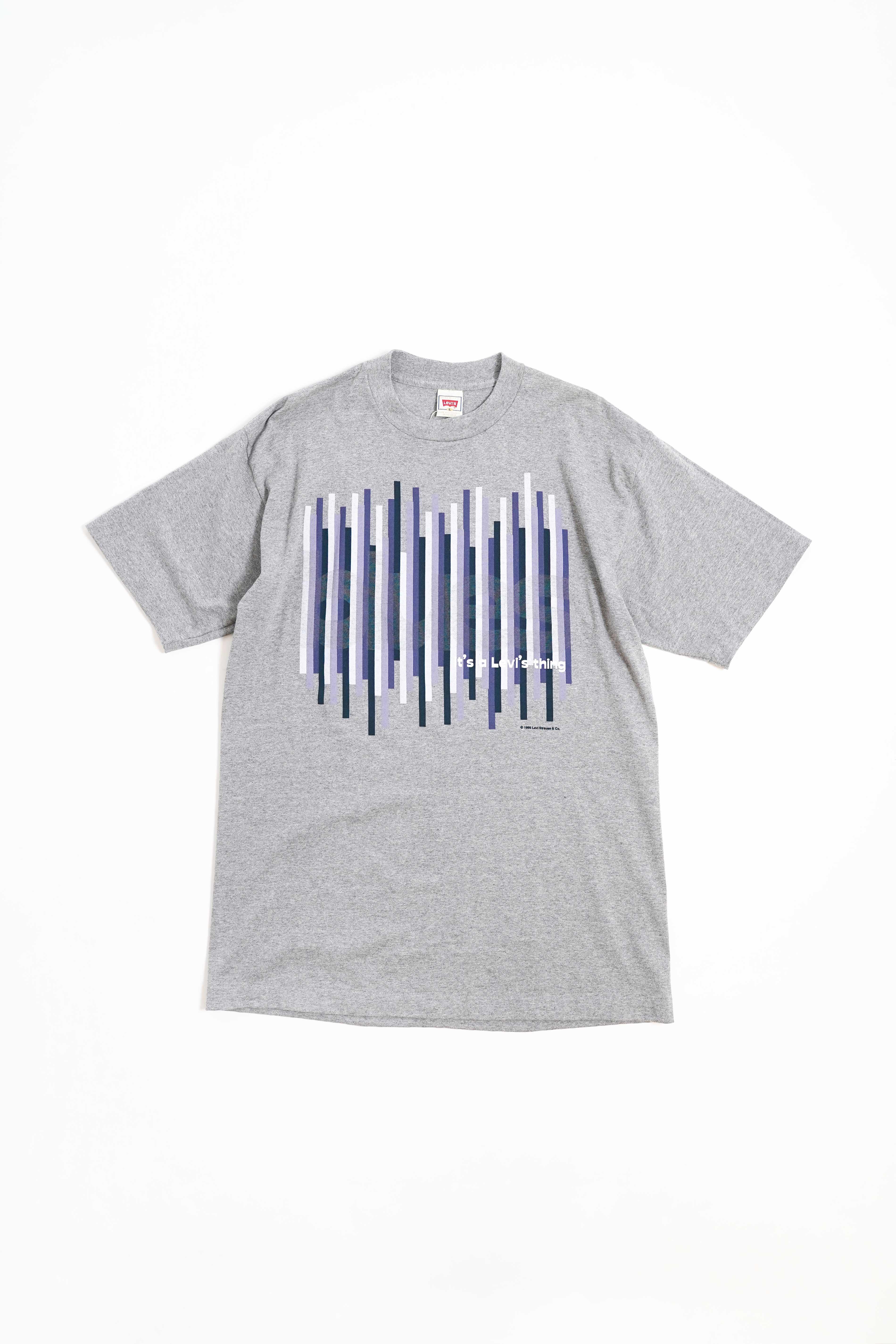 90'S LEVI'S PRINTED T-SHIRTS SAM DESIGN GRAY