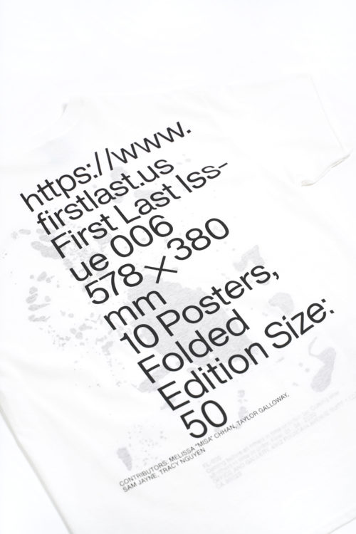 ISSUE 06 PRINTED TEE SHIRTS