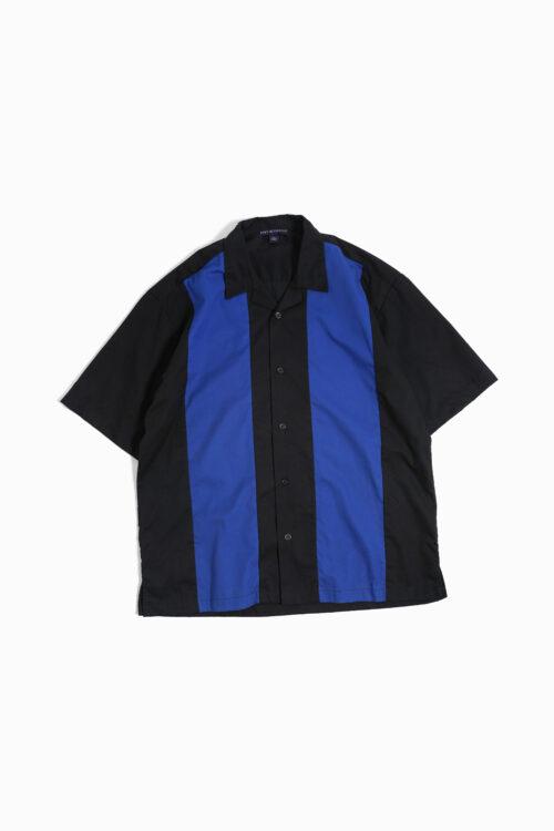 BLACK BLUE 2TONE DESIGN S/S SHIRTS