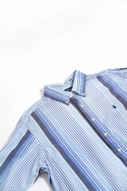RALPH LAUREN  BLUE STRIPE L/S SHIRTS