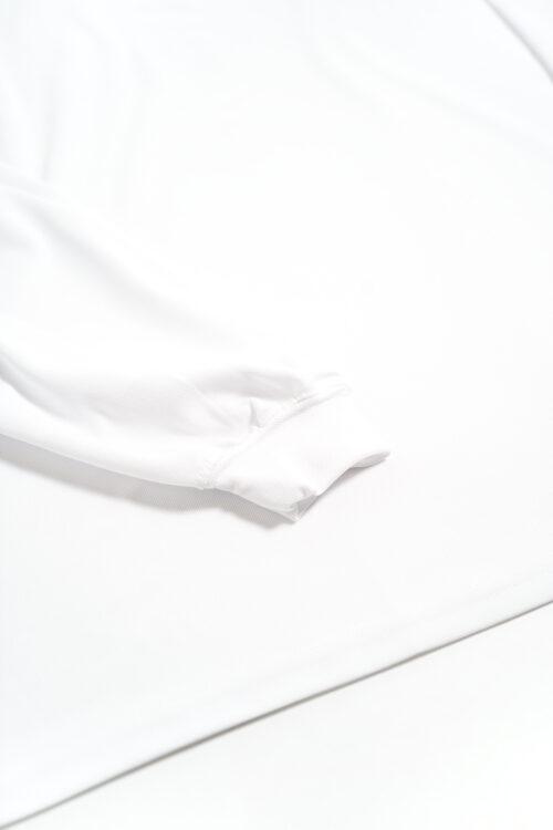 NON-COLLAR POLO SHIRTS DRY PIQUE MOCK NECK L/S