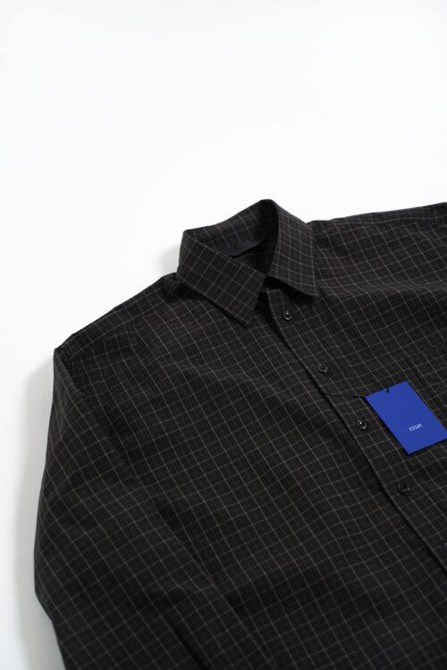 BLACK TONE CHECK L/S BIG SHIRTS