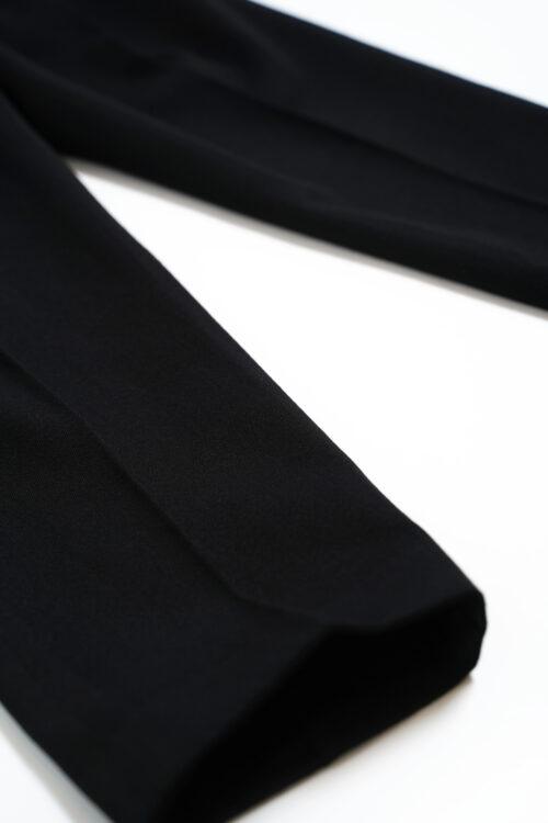 3 TUCKED SLACKS BLACK ORIGINAL WOOL DOESKIN