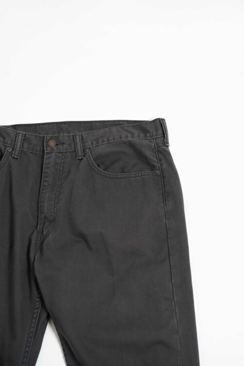 LEVI'S 505 WASHED BLACK COLOR DENIM TAPERED SILHOUETTE L30 W36