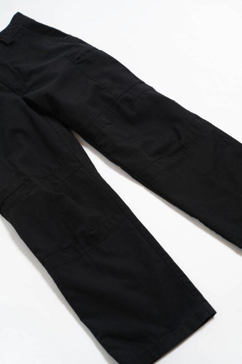 RIP STOP BLACK FABRIC UTILITY PANTS